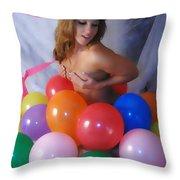 Party Balloon Throw Pillow