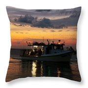 Party Boat Throw Pillow