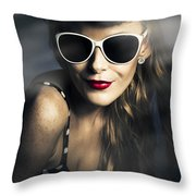 Party Fashion Pin Up Throw Pillow