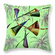 Party Hat Abstract  Throw Pillow