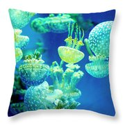 Party In The Lagoon Throw Pillow