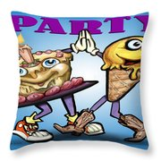 Party Throw Pillow by Kevin Middleton