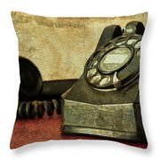Party Line Throw Pillow by Tom Mc Nemar