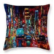 Party Of Lights Throw Pillow