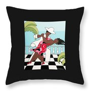 Party On The Porch Throw Pillow