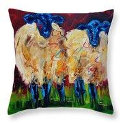 Party Sheep Throw Pillow