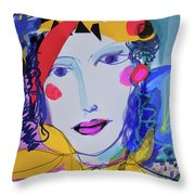 Party Time Collage Throw Pillow