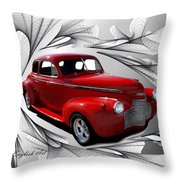 Party Time Red Throw Pillow