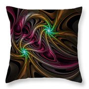 Party With Balloons Throw Pillow