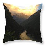 Parvati River Throw Pillow