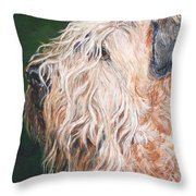 Pascal, Soft Coated Wheaten Terrier Throw Pillow