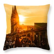 Paseo Del Carmen Throw Pillow