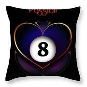 Pasionate8 Throw Pillow