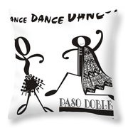 Paso Doble Throw Pillow