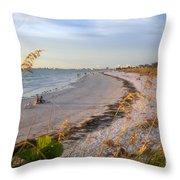 Pass A Grill Beach Florida Throw Pillow