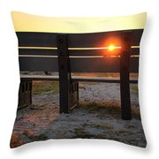 Pass-a-grille Glow Throw Pillow