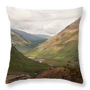 Pass Of Glencoe II Throw Pillow