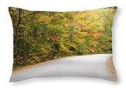 Passaconaway Road - White Mountains New Hampshire Usa Throw Pillow