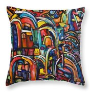 Passage Throw Pillow by Chaline Ouellet