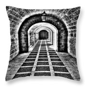 Passage, La Seu, Palma De Throw Pillow
