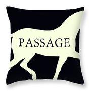 Passage Negative Throw Pillow
