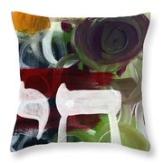 Passages 2- Abstract Art By Linda Woods Throw Pillow