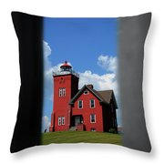 Passageway To The Two Harbors Lighthouse Throw Pillow