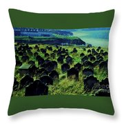 Passed Or Past Residents Of Whitby, Yorkshire Throw Pillow