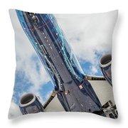 Passenger Jet Coming In For Landing 3 Throw Pillow