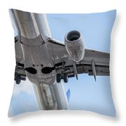 Passenger Jet Coming In For Landing 7 Throw Pillow