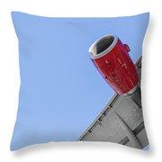 Passenger Jet Coming In For Landing 8 Throw Pillow