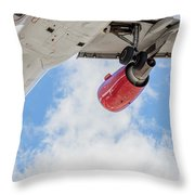 Passenger Jet Coming In For Landing 9 Throw Pillow
