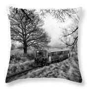 Passenger Train Travel Throw Pillow