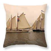 Passing Astern Throw Pillow