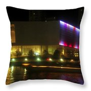 Passing Boat Throw Pillow