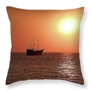 Passing By In Calm Waters Throw Pillow
