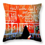Passing By Marrakech Red Wall  Throw Pillow