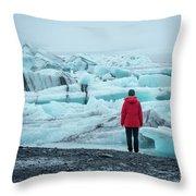 Passing Icebergs  Throw Pillow