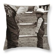 Passing On The Wisdom Throw Pillow