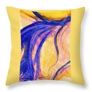 Passing Purple Throw Pillow