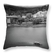 Passing Storm In Chattanooga Black And White Throw Pillow