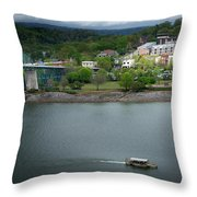 Passing Storm In Chattanooga Throw Pillow
