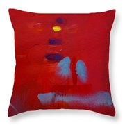 Passing The Lighthouse Throw Pillow