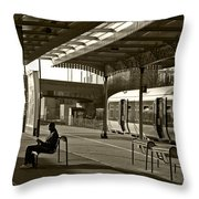 Passing The Time Again Throw Pillow