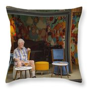 Passing The Time Of Day Throw Pillow