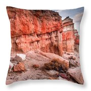 Passing Time At Red Rock Throw Pillow