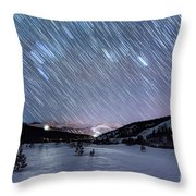 Passing Time Throw Pillow by Bitter Buffalo Photography