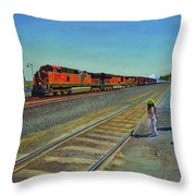 Passing Train Throw Pillow