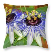 Passion Flower Power Throw Pillow