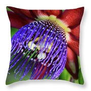 Passion Flower Ver. 11 Throw Pillow